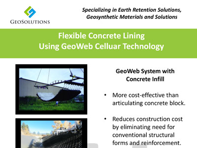 Flexible Concrete Lining