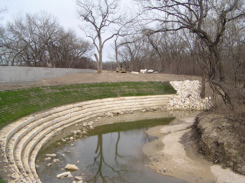 Stream bank stabilization channel design for Design of stabilisation pond